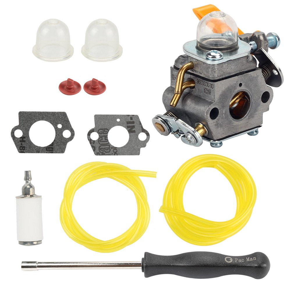Buckbock C1U-H60 Carburetor for Ryobi Homelite String Trimmer RY28100 RY28120 RY28121 RY28140 RY28141 RY28160 RY28161 UT33600 UT33650 308054013 308054012 308054004 308054008 String Trimmer