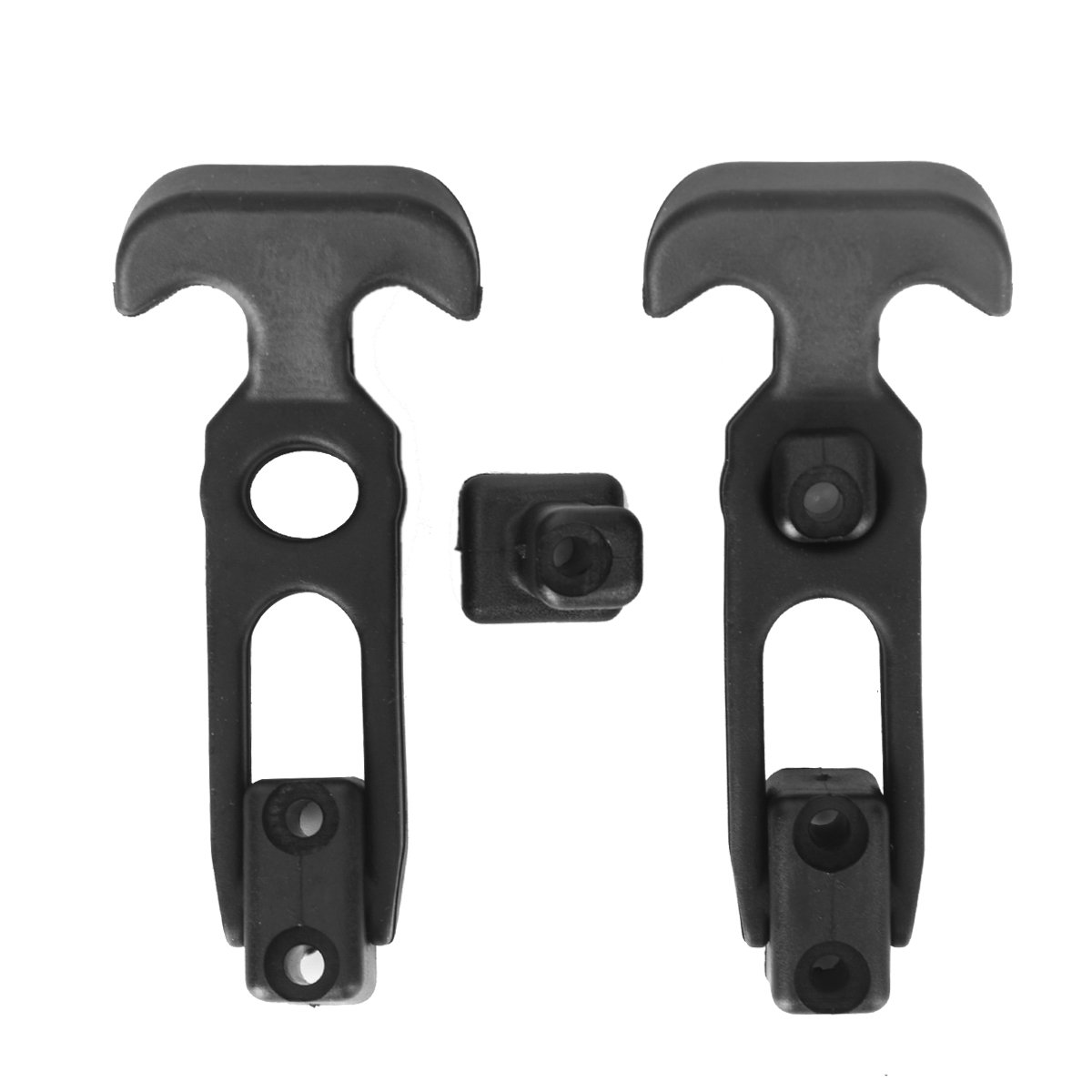 Hardtech Flexible RubberT-Handle Hasp Draw Latches for Cooler, Golf Cart or Tool Box Pack of 2