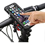 Bike Mount Holder, MOTO Mount Holder , Bike Phone Mount with IP68 iPhone Waterproof Case Motorcycle Bicycle for iPhone case 360 Degree Rotation Touch Screen Fingerprint identification
