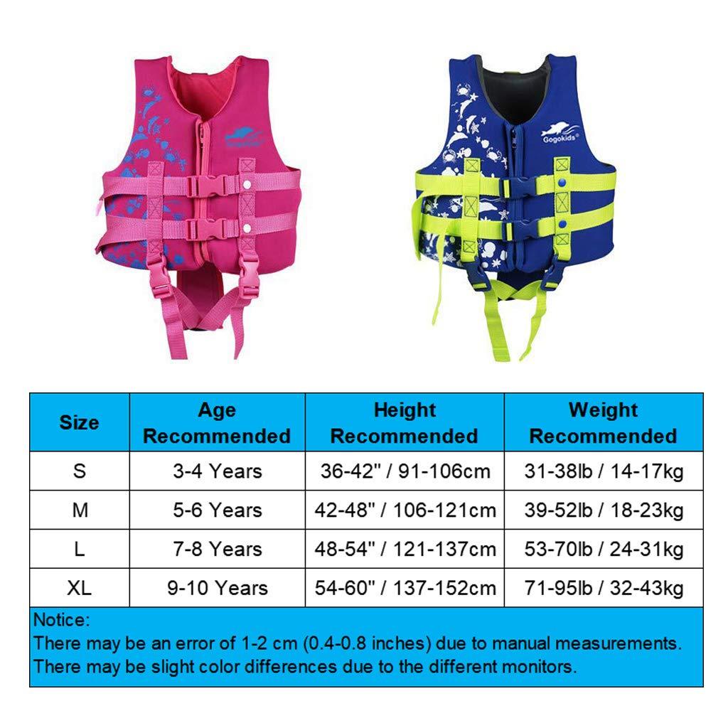 Ragazzi Ragazze Aiuti al Nuoto Galleggiabilit/à Costumi da Regolabile Imparare a Nuotare Piscina Immersione Spiaggia Fare Surf Sicurezza Rosa Blu Hony Bambini Nuoto Vest Giacca Tuta Galleggiante