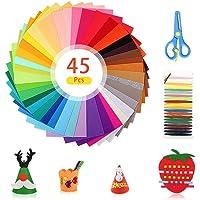 ASANMU Hoja de Fieltro, Fieltro Manualidades 45 Colores