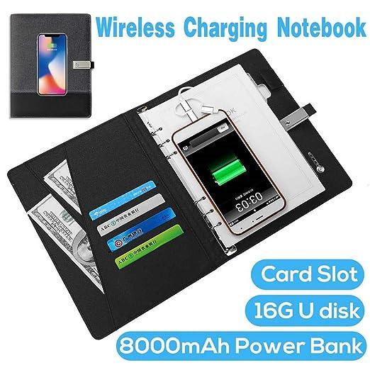 RENYAYA Cuaderno Multifuncional Power Bank Notebook con 8000 ...