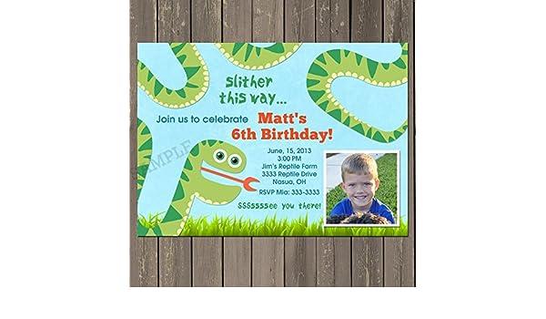 Amazon snake birthday invitation snake birthday party invite amazon snake birthday invitation snake birthday party invite reptile party invitation boys birthday theme custom handmade filmwisefo