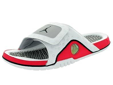 buy online f71f2 5d5e3 Jordan Nike Hydro XII. Retro Weiß Rot Herren Sandalen, Weiß - Weiß Rot