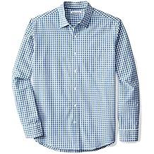 Amazon Essentials Men's Regular-Fit Long-Sleeve Check Shirt