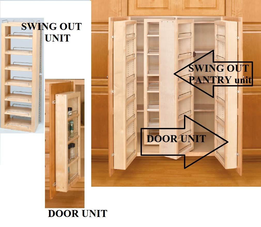 Door Mount Unit, 12 W x 4 D x 25 H , 25 Tall Door Mount Pnatry w/ Shelves HandyCT