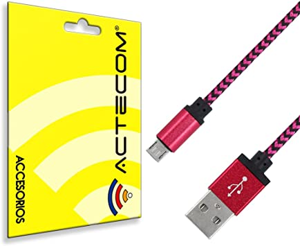 actecom Micro USB Cable Blanco Y Negro con PROTECCIÓN para Smartphone MP3 Tablet PC Nylon Cargador: Amazon.es: Electrónica