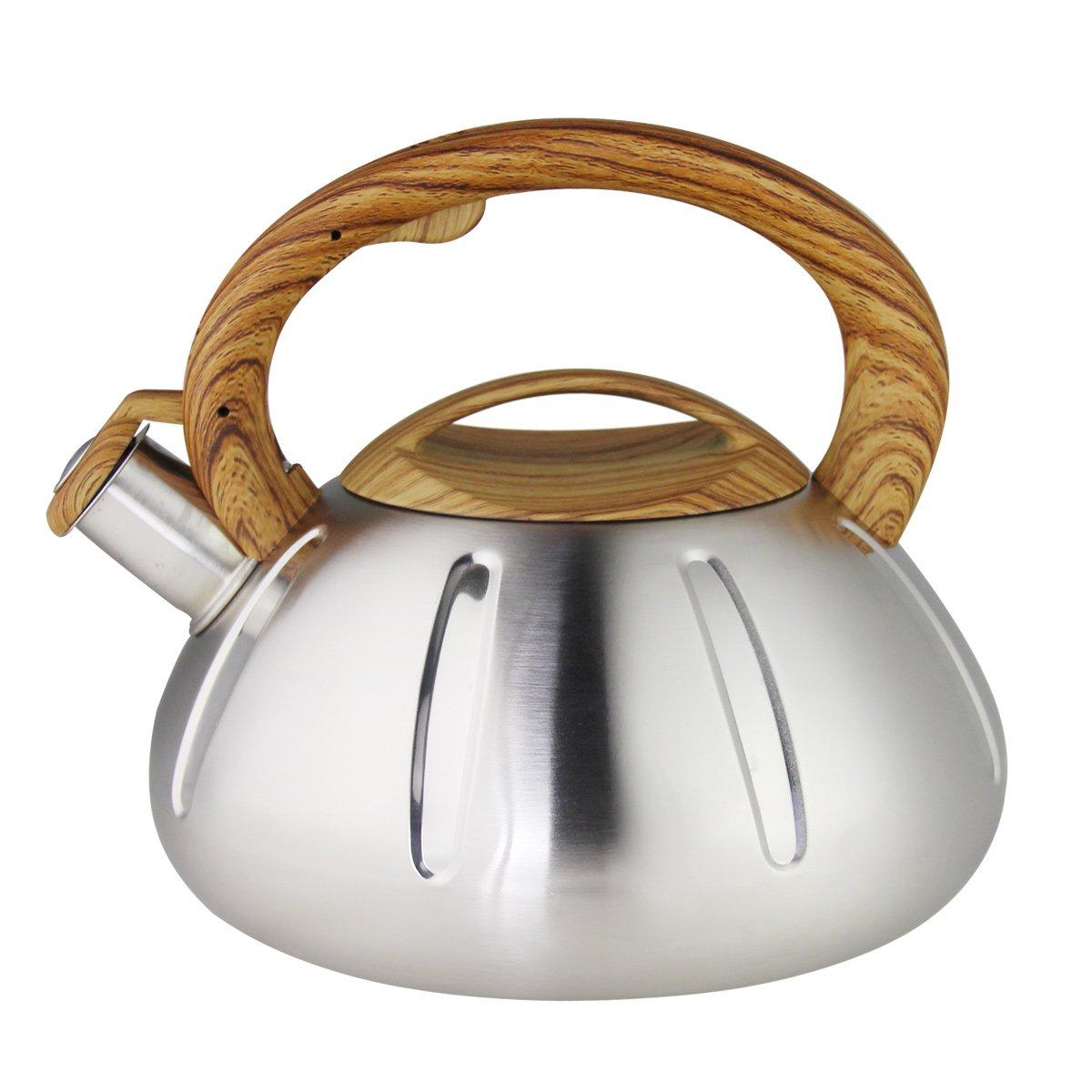 Riwendell Stainless Steel Whistling Tea Kettle 2.6-Quart StoveTop Kettle Teapot