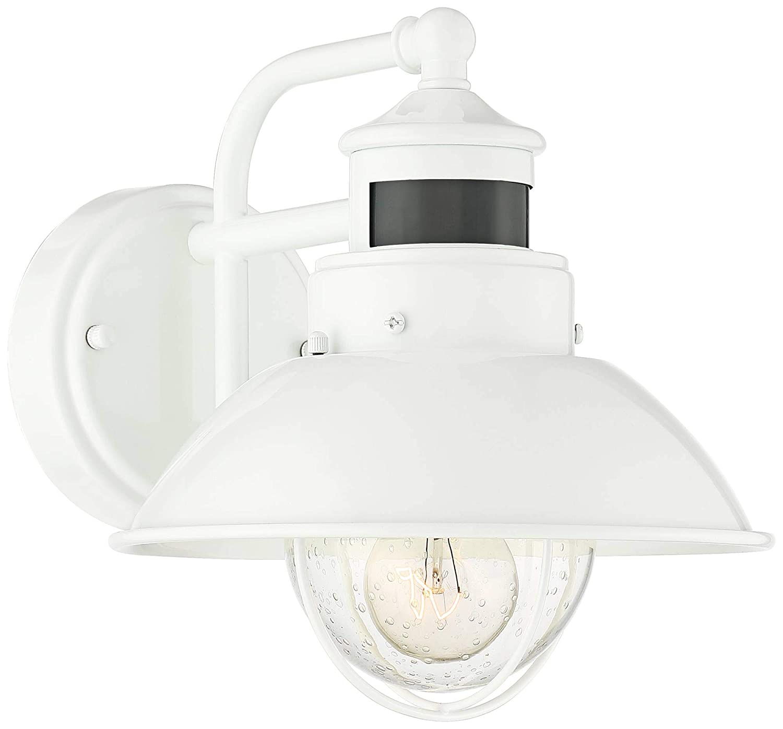 John Timberland Oberlin Outdoor Wall Light Fixture Farmhouse Galvanized 9 Motion Security Sensor Dusk to Dawn for House Patio Porch