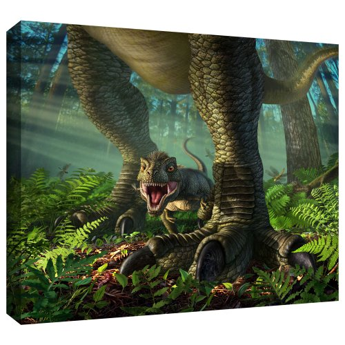 Art Wall Jerry Lofaro 'Wee Rex' Gallery-Wrapped Canvas Artwork, 14 by 18-Inch (Wee Gallery Art)