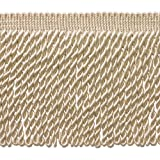 DecoPro 5 Yard Value Pack - 6 Inch Long Ivory/Ecru Bullion Fringe Trim, Style# BFS6 Color A2 (15 Ft/4.5 Meters)
