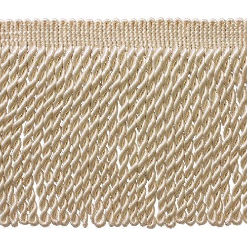 Bullion Fringe (5 Yard Value Pack - 6 Inch Long Ivory / Ecru Bullion Fringe Trim, Style# BFS6 Color: A2 (15 Ft / 4.5 Meters))