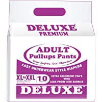 Deluxe Adult Diapers Pullups Pants, XL-XXL, 41-60inch (10 Pieces)