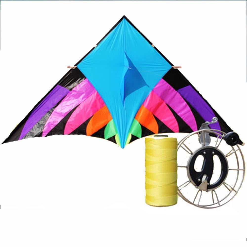 カイト 大 大人 傘布 防風 カラフル ロングテール トライアングルカイト リール (サイズ さいず : C) B07R2K8M4C  C