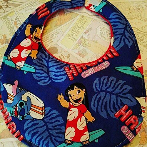 Disney Lilo and Stitch baby bib, disney cruise, hawaii, disneybound, baby bib, unisex bib]()