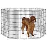 "New World Pet Products B556-42 Foldable Exercise Pet Playpen, Black, Large/24"" x 42"""