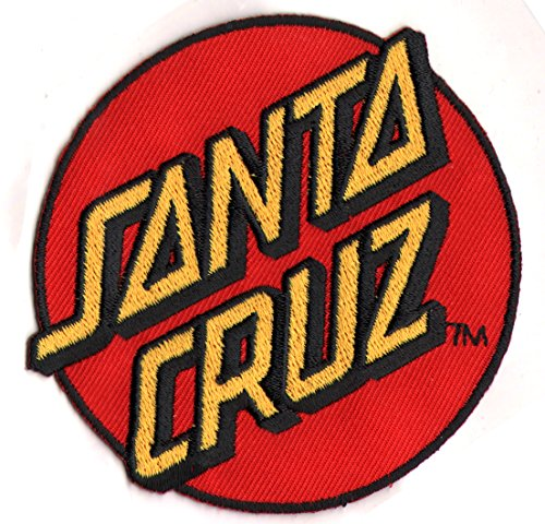 Santa Cruz Classic Dot Embroidered Skateboard Patch – Sew on or stick on sk8 new