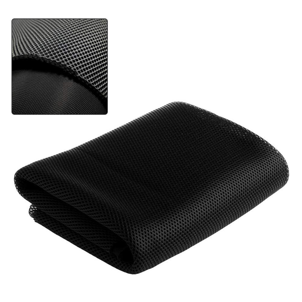 QUALITY Jet Black SPEAKER GRILL CLOTH Stereo Grille Acoustic Fabric # A-569