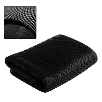 Speaker Grill Cloth Stereo Mesh Fabric for Speaker Repair Black - 55 x 20  Inch (140 x 50 Centimeters)