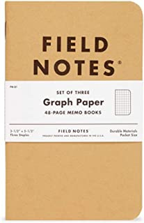 """product image for Field Notes: Original Kraft 3-Pack - Graph Paper - 48 Pages - 3.5"""" x 5.5"""""""