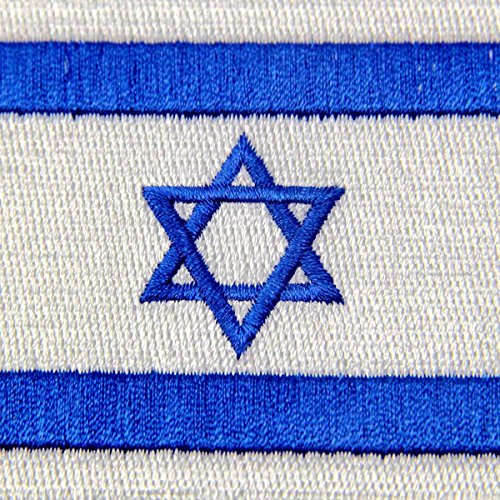 Israel Flag Embroidered Israeli National Emblem Jewish Star of Iron Sew On Patch