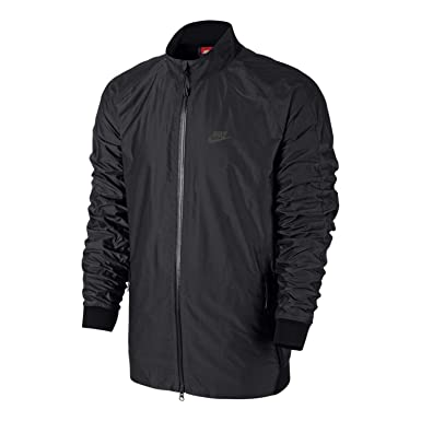 898001b277f325 Image Unavailable. Image not available for. Color  Nike Mens N98  International Full Zip Track Jacket Black Medium