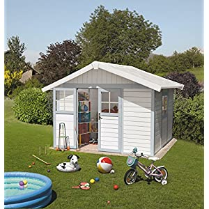 Grosfillex-Deco-Garden-Shelter-75-m2-with-Anchor-Kit-White-Grey-Blue