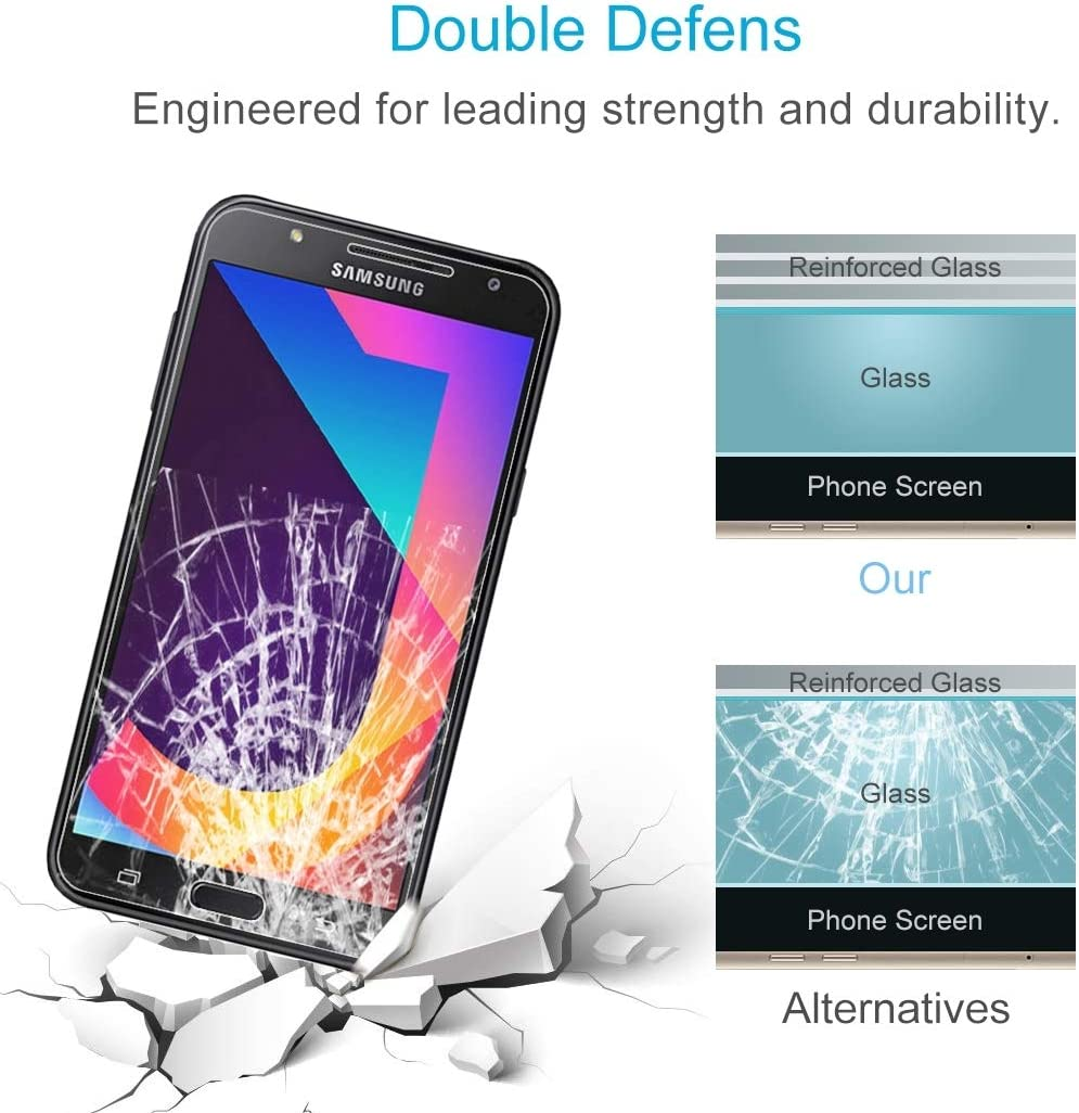 J701 Jiming AYSMG 100 PCS 0.26mm 9H 2.5D Tempered Glass Film for Galaxy J7 Neo