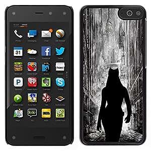 Caucho caso de Shell duro de la cubierta de accesorios de protección BY RAYDREAMMM - Amazon Fire Phone - Cat Woman City