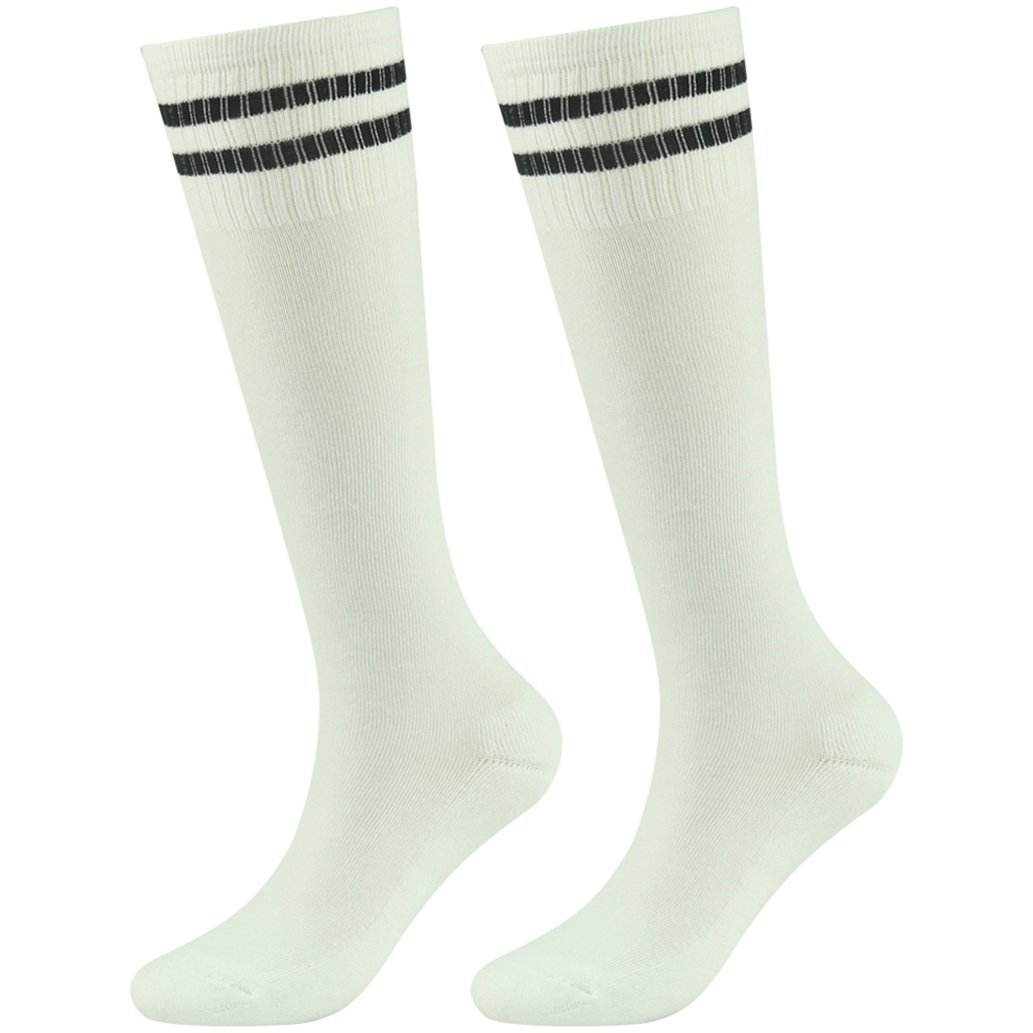 saillsen SOCKSHOSIERY ガールズ B07BGZH8M7 2 Pairs-white Black-stripe 2 Pairs-white Black-stripe