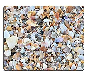 Mouse Pad Natural Rubber Mousepads variety of broken seashells on a beach 28227998