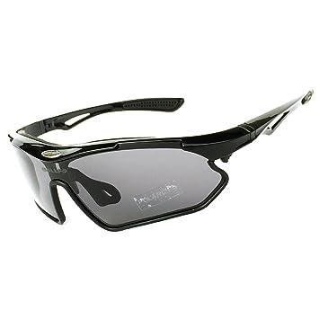 HCMAX Gafas de sol Deportivas Polarizadas Protección UV400 para Hombres Mujeres Ciclismo Equitación Corriendo Pescar Gafas