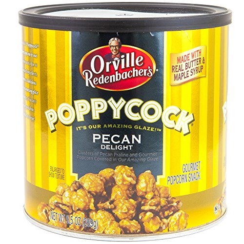 Orville Redenbachers Poppycock Gourmet Popcorn Snack 10.5 Oz Can | Clusters of Pecan Praline & Gourmet Popcorn Covered In Glaze | Made With Real Butter & Maple Syrup | Holiday Gift Set(Pecan Delight)