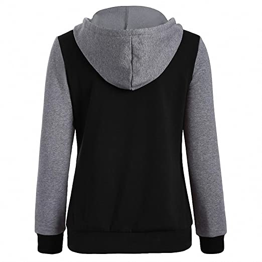 Causal Women Sweatshirts Hoodies Long Sleeve Hoody Baseball Hoodie Jacket Sudaderas Mujer Plus Size WS952E at Amazon Womens Clothing store: