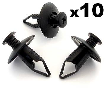 10xClips Fijación Paragolpes Paso Rueda Insonorizante Motor 8mm: Amazon.es: Coche y moto