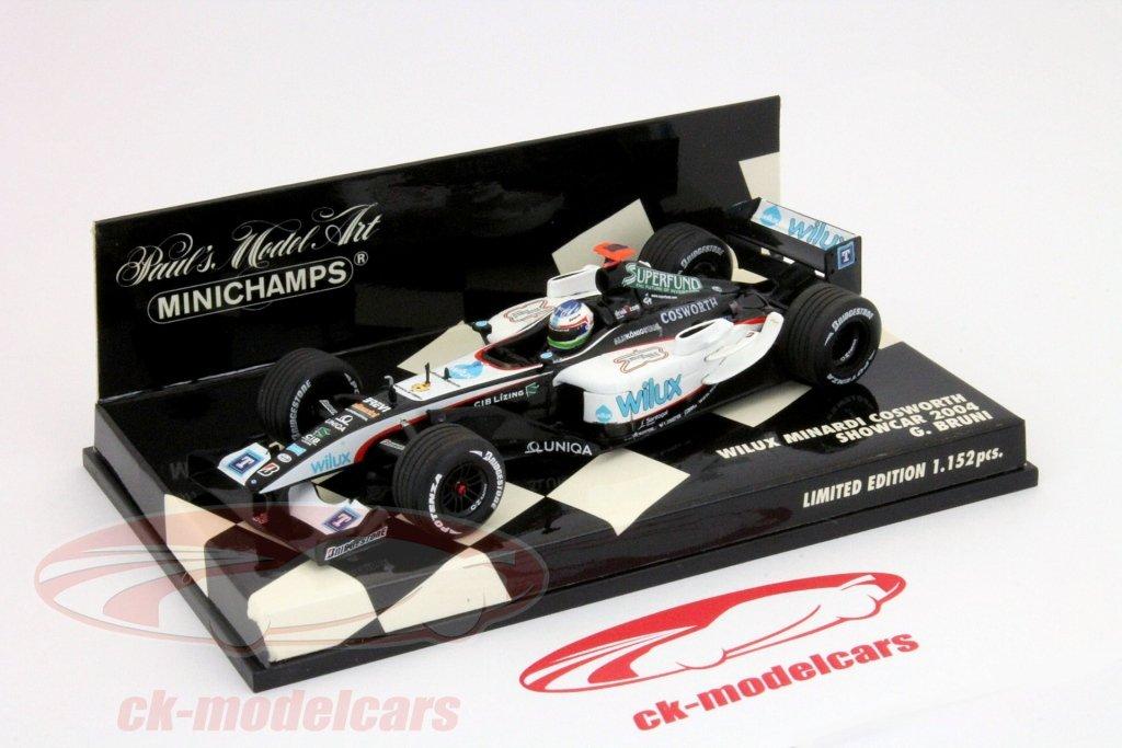 G. Bruni Wilux Minardi PS04 Showcar Formel 1 2004 1:43 Minichamps