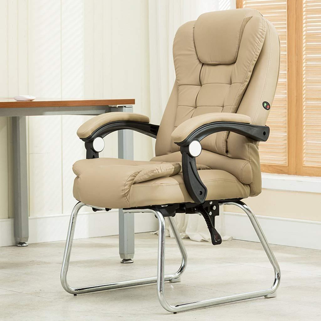 Kontorsstol affärsstol konferensstol mottagningsstol hushåll datorstol arbetsstol GMING (färg: Vit) Khaki