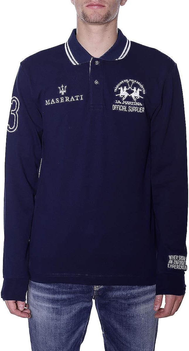 La Martina Hombres Camisa Polo de Manga Larga Brigham Marina De ...