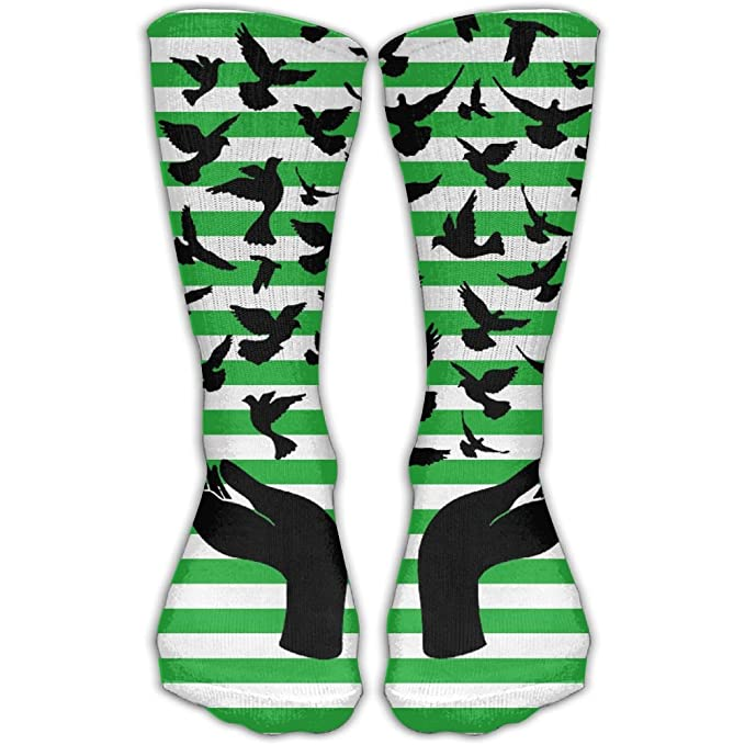 The Peace Symbol Of Hands Mens Hose Popular Breathable Hose Tops At