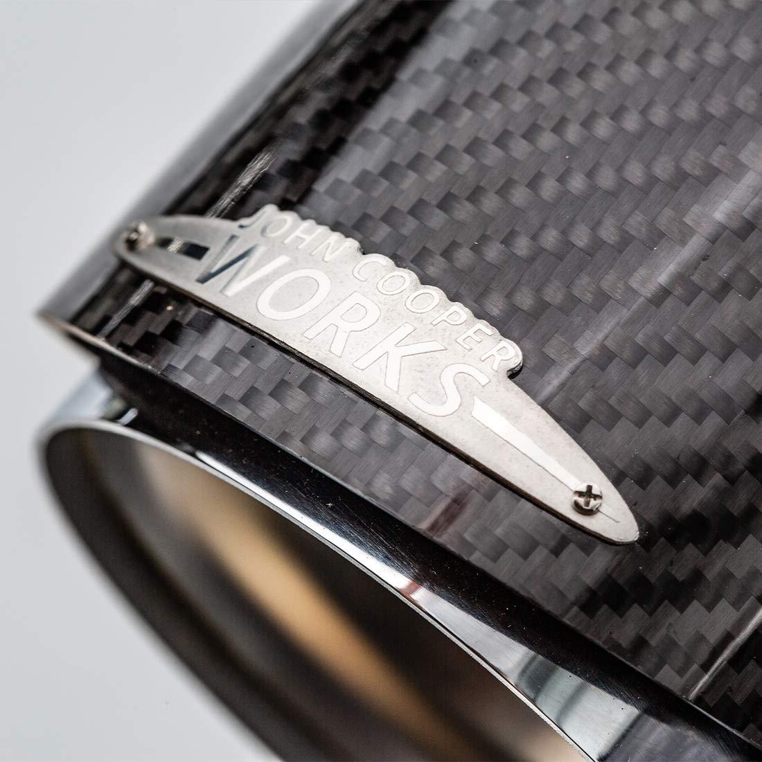 Set of Two MINI John Cooper Works 18302355304 Chrome Tail Pipe Trim