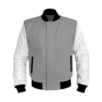 luvsecretlingerie Genuine White Leather Original American Varsity Letterman College Baseball Kid Leather Jackets