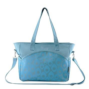 48bb06ec39b0 Amazon.com   Fumee Large Capacity Durable Diaper Bag - Weekender Tote with Cute  Baby Change Pad + Crossbody Strap (Blue)   Baby