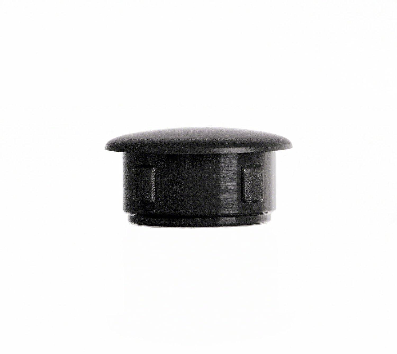 Abdeckstopfen 10x6 mm Schwarz Blindstopfen Kunststoff Verschlusskappe 50 Stck