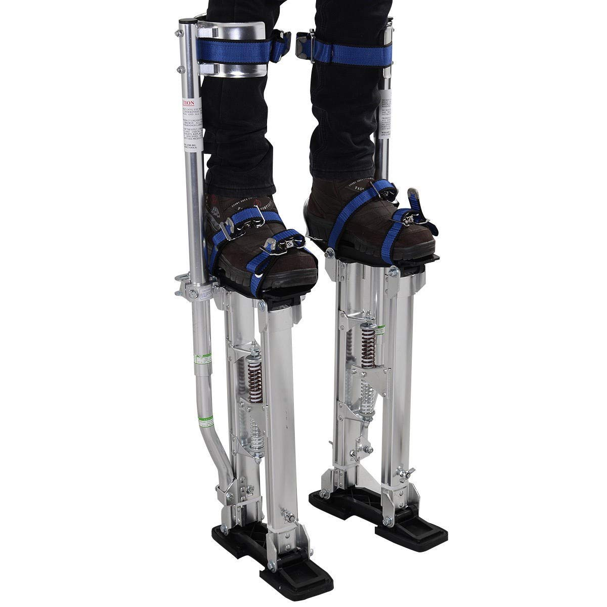 Brand New and Silver 18''-30'' Drywall Aluminum Stilts, Light-weight Easy to Carry, Suitable for Both Indoor and Outdoor Use - LeZhel Shop