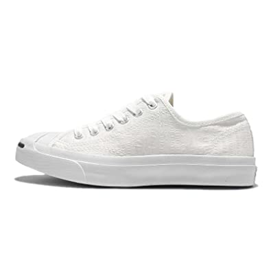 932d7ac331ba Converse Jack Purcell Seersucker Canvas Ox Trainers White 6 UK   Amazon.co.uk  Shoes   Bags