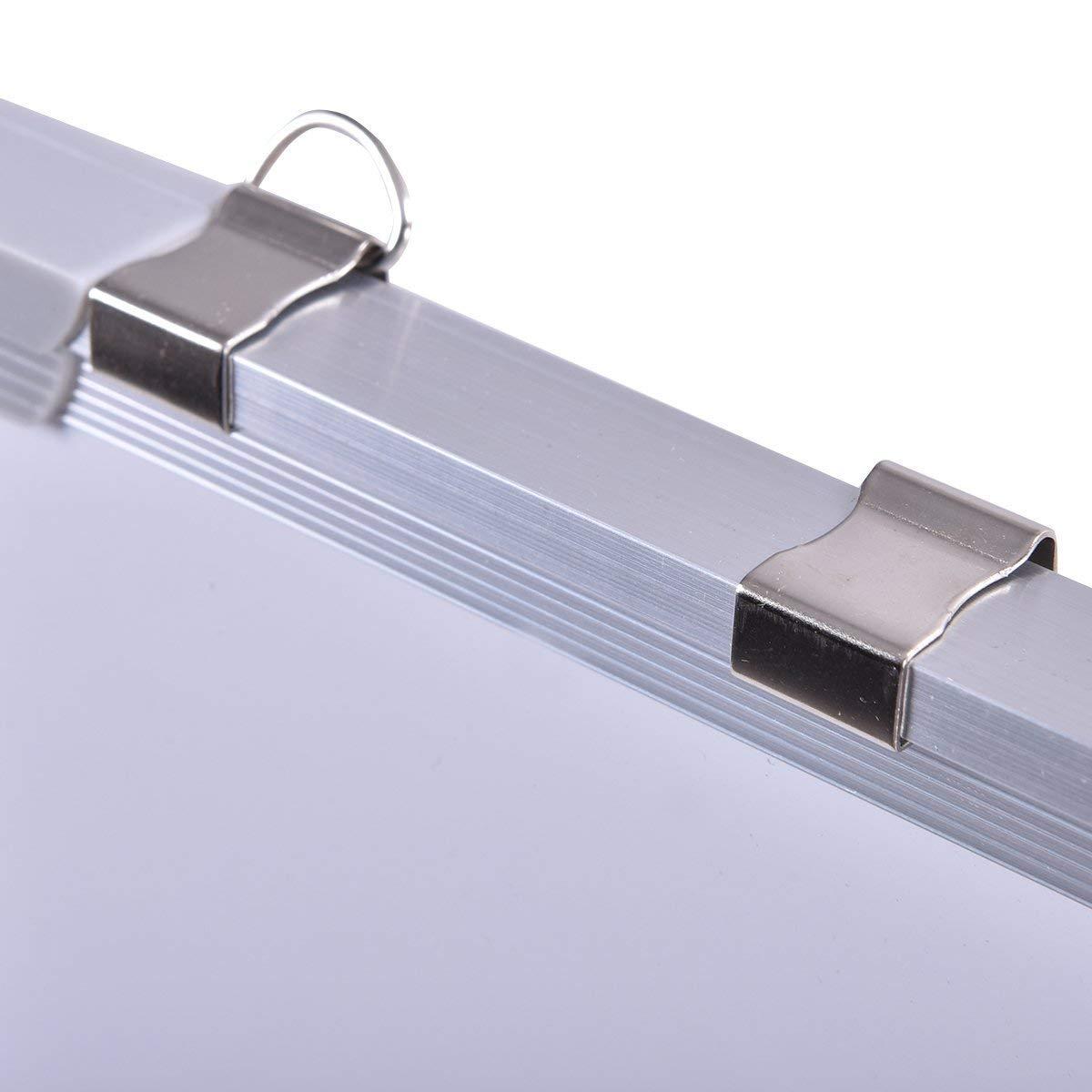 Vari Dimensioni Disponibili 70 x 50 cm COSTWAY Lavagna Magnetica Bianca Lavagna Cancellabile con Cornice in Alluminio per Scuola Casa Ufficio