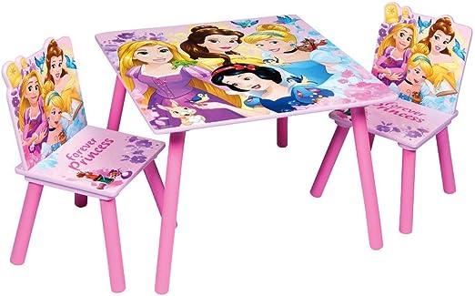 Familie24 - Juego de Mesa y 2 sillas Infantiles de Madera, diseño de Princesas y Spiderman: Amazon.es: Juguetes y juegos