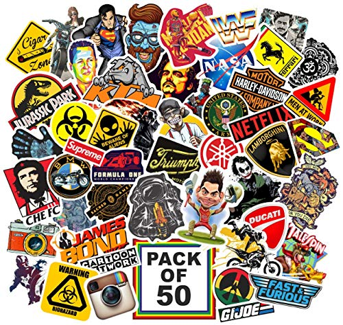 Junkyard Vinyl Stickers for Electronic Gadgets, Scrapbook (Pack of 50)