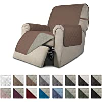 Easy-Going Recliner Sofa Slipcover Reversible Sofa Cover Furniture Protector Couch Cover Water Resistant Elastic Straps Pets Kids Dog Cat (Recliner,Brown/Beige)