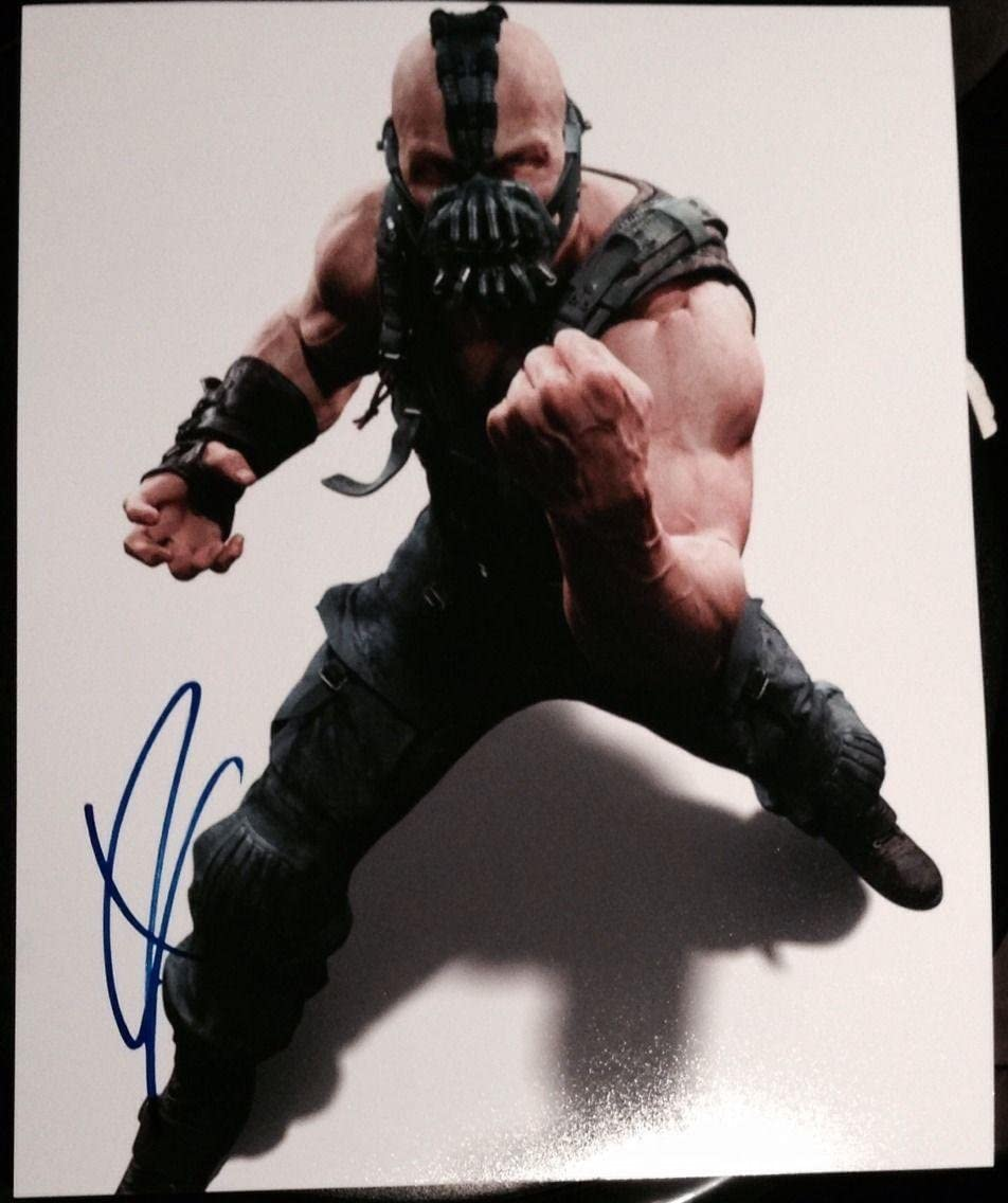 Tom Hardy Signed Autograph Dark Knight Rises Bane Poster Promo Photo Coa Movie Photos At Amazon S Entertainment Collectibles Store